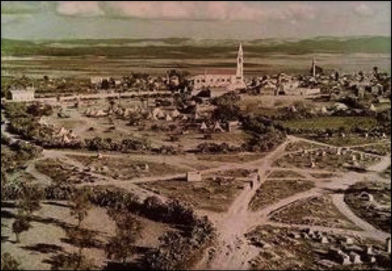 منظر عام لمدينة الرملة قديما