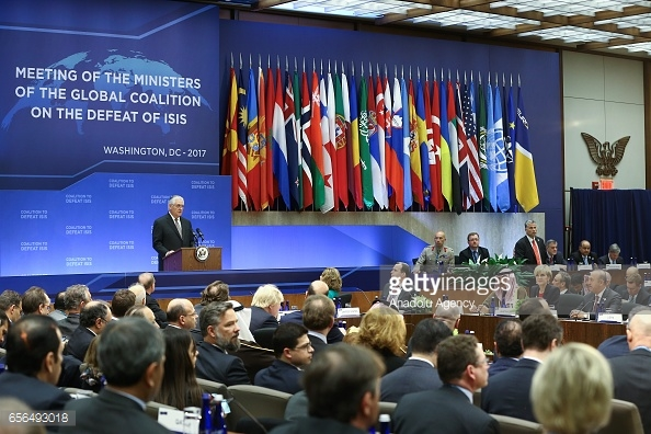 Meeting of the global coalition on the defeat of ISIS in March, 2017 - محاربة داعش: حرب مرهونة بالتناقضات