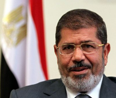 Former Egyptian president Mohamed Morsi, shown in 2012, died Monday during a trial session in an espionage case in Cairo – © Image: Khaled Elfiqi/EPA-EFE/Shutterstock