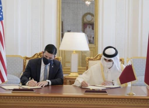وزير الداخلية القطري يناقش التعاون الأمني مع وزير الأمن الداخلي الأمريكي
