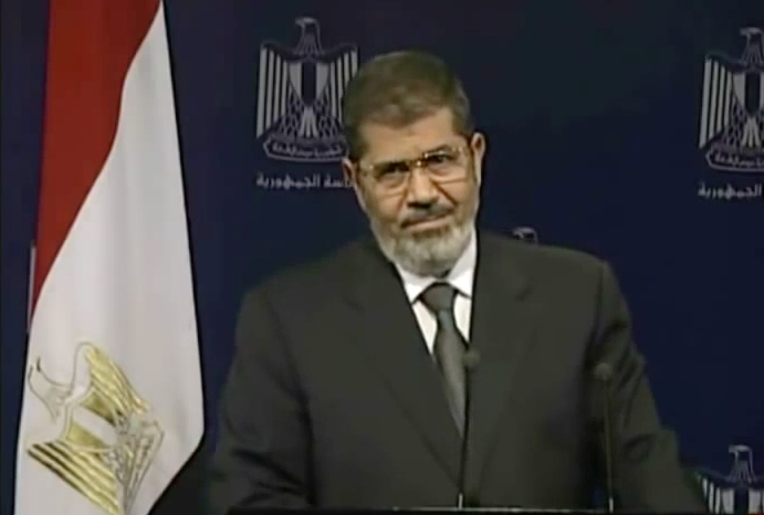 Mohammad Morsi addressing the nation on 2 July 2013