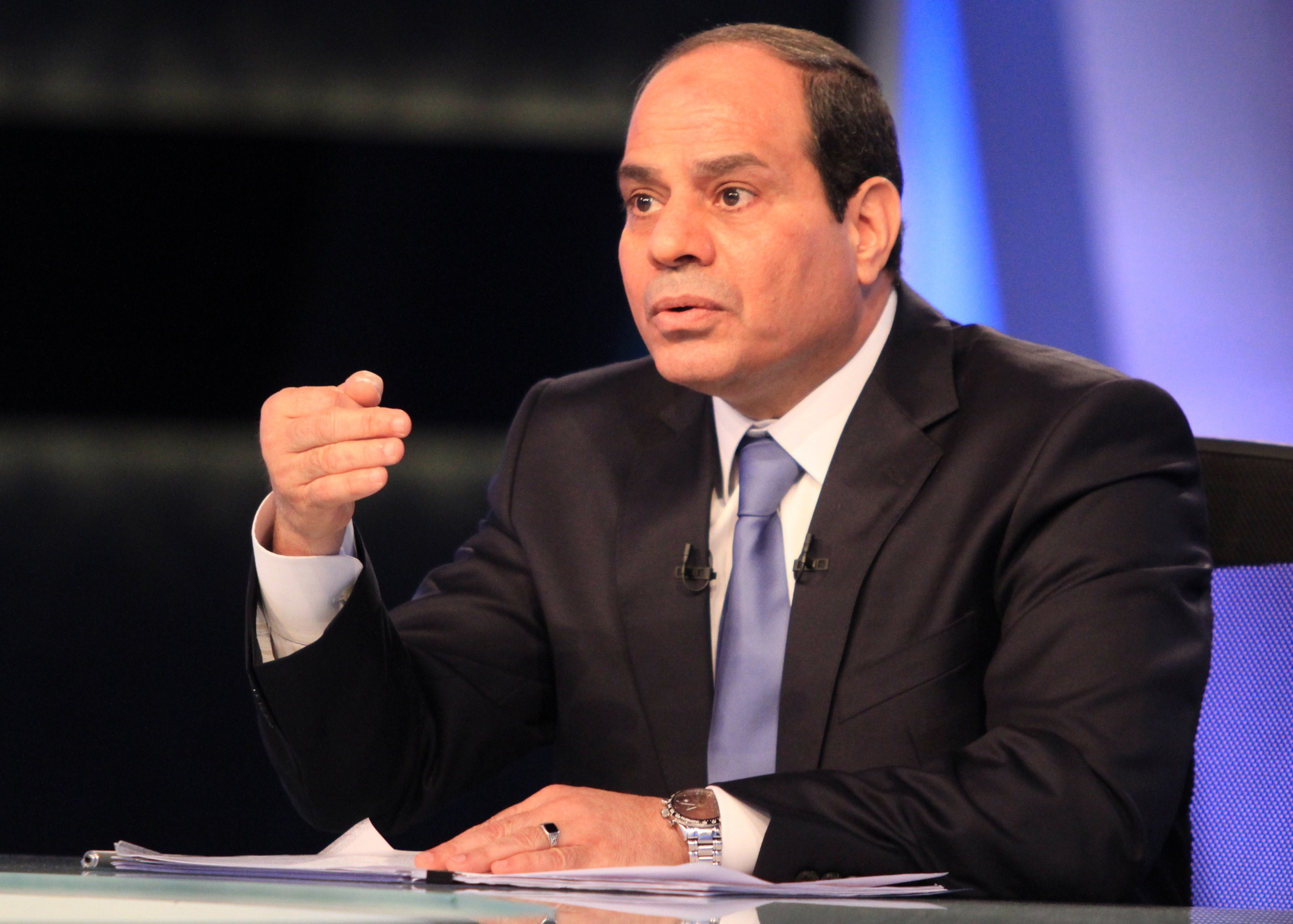 The President of Egypt Abdulfattah Al-Sisi warned from a military intervention in Syria and called for respecting its territorial sovereignty and dealing with the flow of terrorist foreign fighters. mpcmena journal - Hakim Khatib