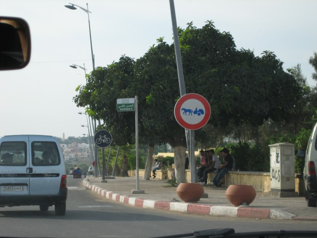 Horse Carriages are recognised as a form of transport. They even earn their traffic signs in Safi in Morocco