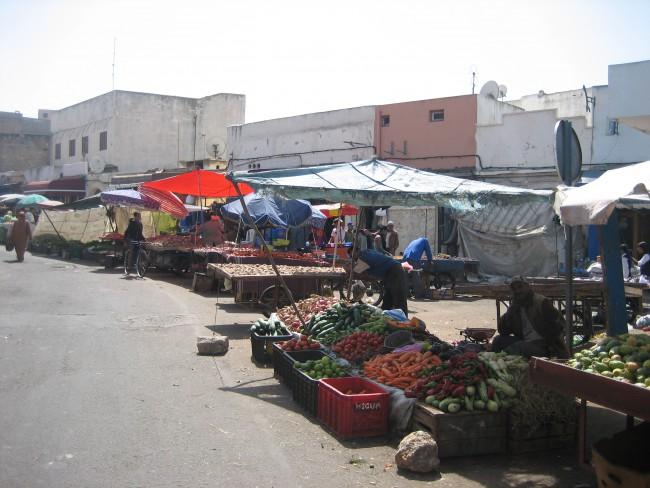 Market in Safi city