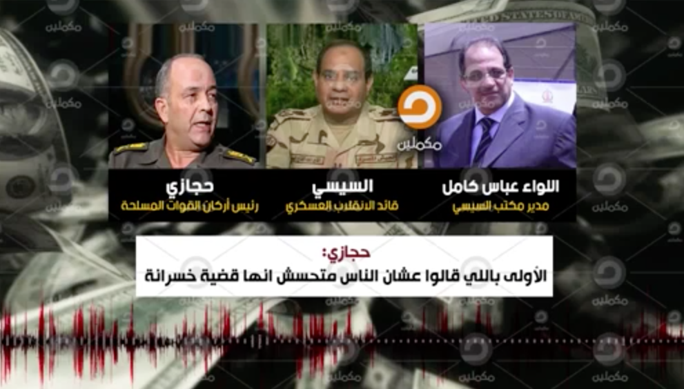 Unearthly Leaked Recordings of Egypt's President Are Revealed - leaked video reveals huge sums of money coming from UAE, KSA and Kuwait to Egypt
