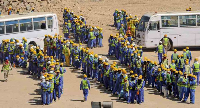 Workers in Qatar for World Cup, MPC Journal