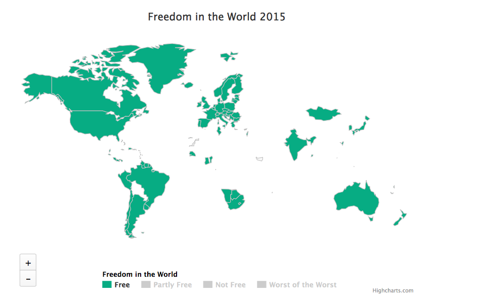 Freedom in the World according to freedom house - MPC Journal
