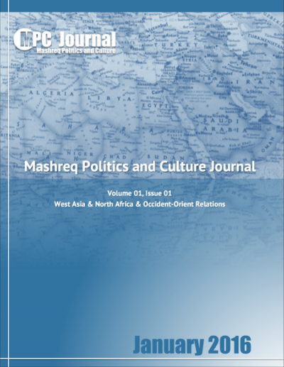 Monthly Issues - Mashreq Politics & Culture Journal  - About us - About us - January 2016 - Vol 01 - Issue 01 - Mashreq Politics and Culture Journal - Hakim Khatib