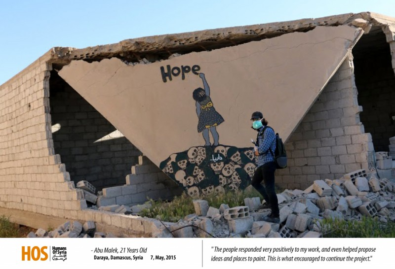 Syrian Painter Keeps Going Despite Pain