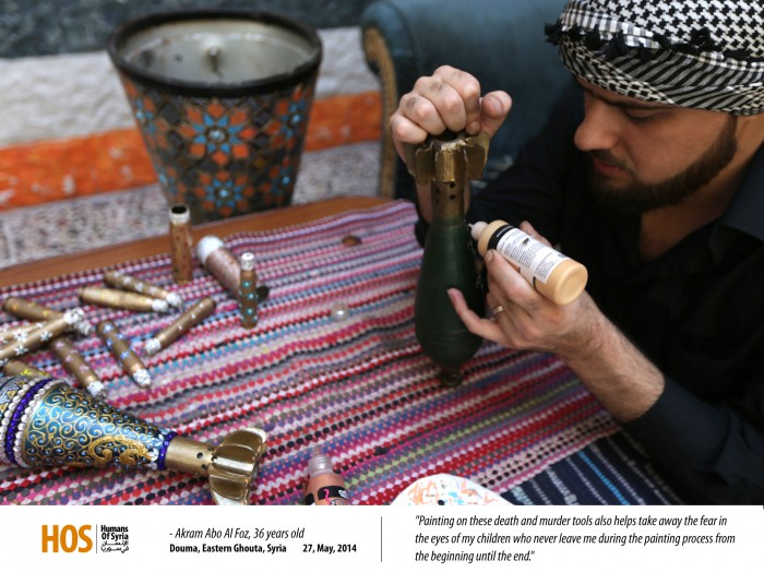 Painting on bullets, MPC Journal - How Can a Syrian Paint on Death?