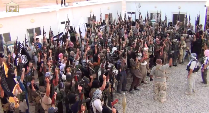 A photo of ISIS fighters taken from one of their propaganda videos, MPC Journal