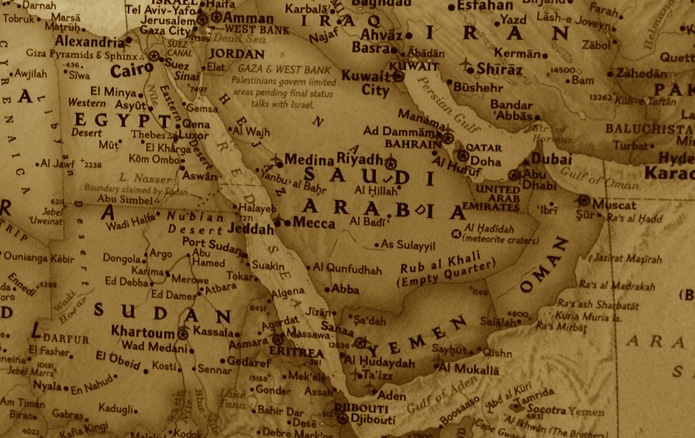 © Image: MPC Journal – A map of the Middle East and North Africa by the National Geographic