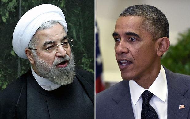 Left: Iranian president Hassan Rouhani. Right: US president Barack Obama Photo: AP