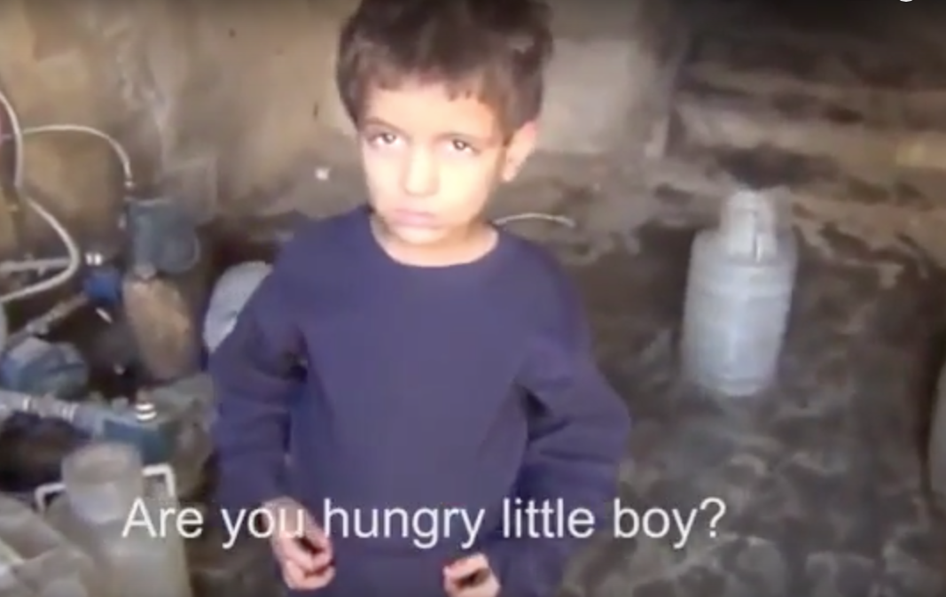 Syrian Boy Eats Grass to Survive: Syrian Boy Eats Grass to Survive (Video)