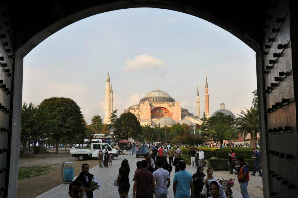ISIS Attack in Istanbul – Two Targets in One - Sultanahmet Square from the Blue Mosque looking to Haghia Sofia (my photo - 2011)