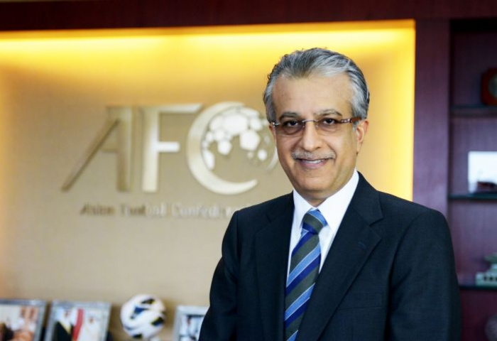 Sheikh Salman Bin Ebrahim Al Khalifa from Bahrain is the president of the Asian Football Confederation (AFC).
