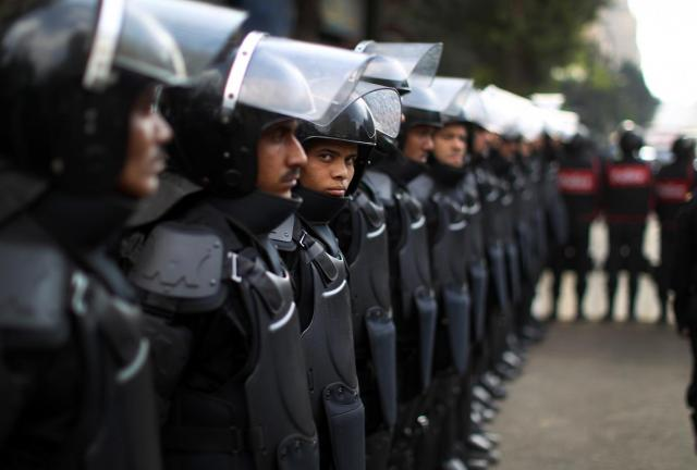 Egyptian Police Forces (AFP File Photo) - Sixty People Arrested for 25 January Anniversary