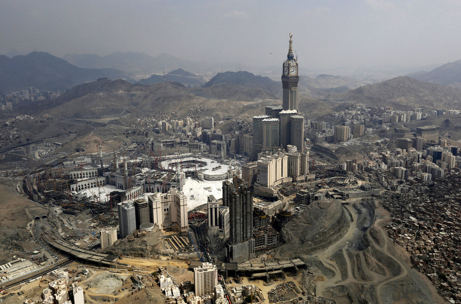 An aerial view of the Grand Mosque in the holy city of Mecca in October 2014. Muhammad Hamed/Reuters/Landov MPC Journal