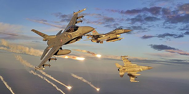 Turkish F-16 fighter jets are seen in this file photo. (Photo: Cihan) MPC Journal
