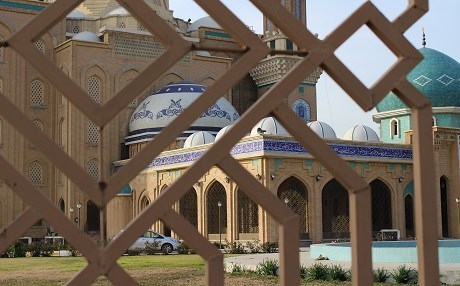 A mosque in central Erbil, capital of the Kurdistan Region