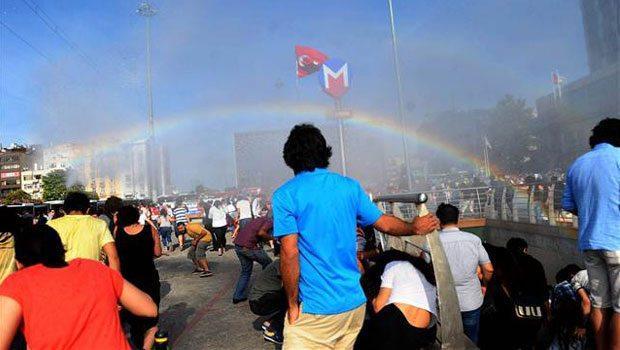 Police in Turkey Accidentally Create Rainbow at Pride Parade, Police in Turkey Accidentally Create Rainbow at Pride Parade
