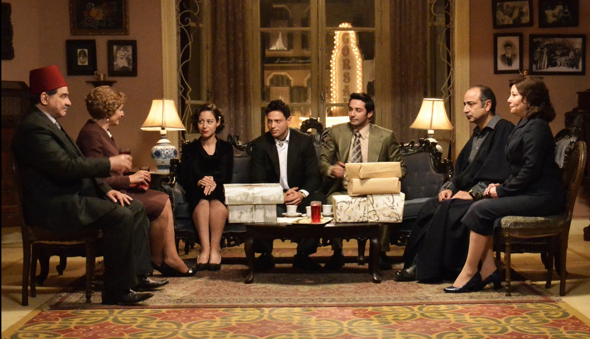 "A scene from the Egyptian television series ""The Jewish Quarter,"" which follows a Jewish family living in Cairo in 1948. The series has astonished Egyptians with its compassionate treatment of Egypt's Jews and its depiction of their fierce anti-Zionism. Credit El-Adl Group"
