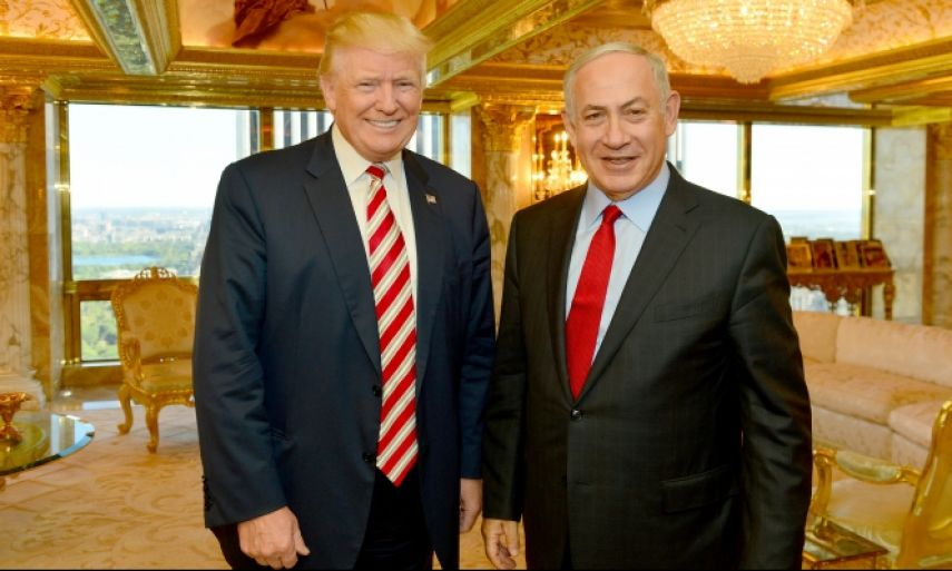 Trump and the Palestinian State - Prime Minister Benjamin Netanyahu and President-elect Donald Trump meeting at Trump Tower in New York, September 25, 2016 - © Photo: Kobi Gideon/GPO
