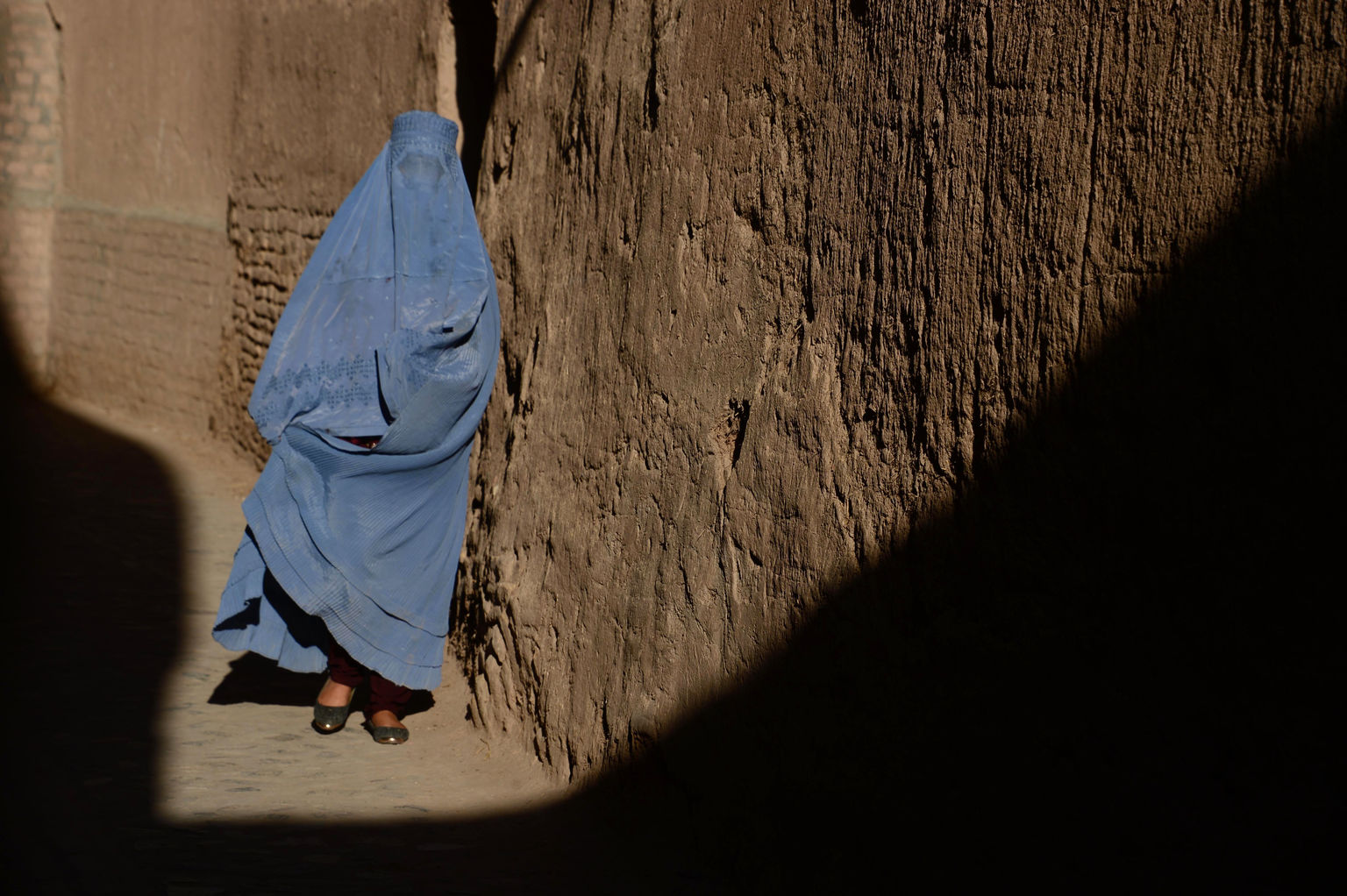 Woman wearing burqa in Afghanistan
