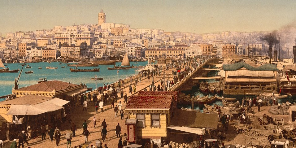 It was once the largest and wealthiest city in Europe, and a series of stunning postcard images now reveals what life was like on its streets. The ancient architecture of Constantinople, in Turkey, is shown in the pictures, taken in the last years before the fall of the Ottoman Empire, and carefully restored to add colour.