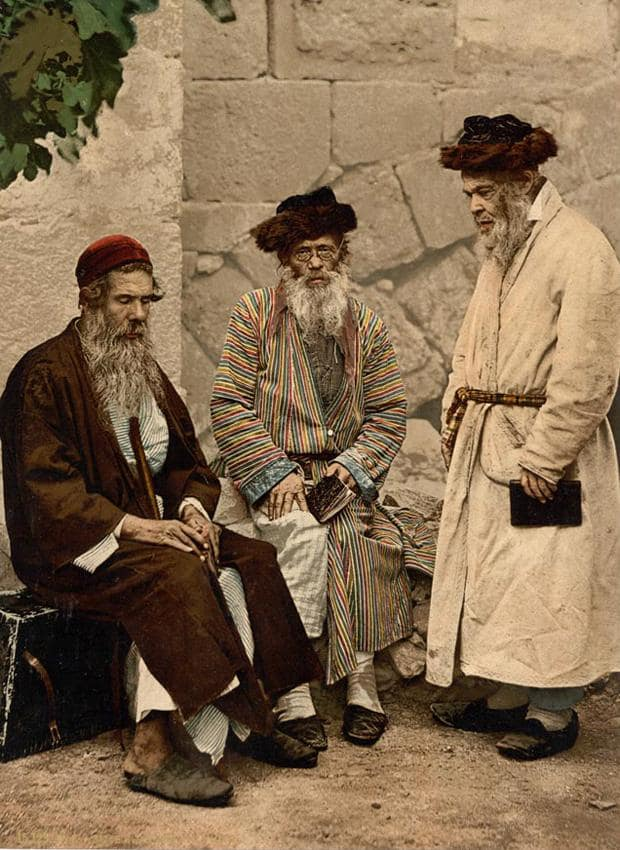 Jewish men in Jerusalem