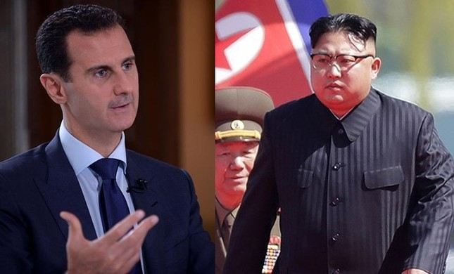 This combination shows dictators of Syria (Bashar Assad - L) and North Korea (Kim Jong Un)