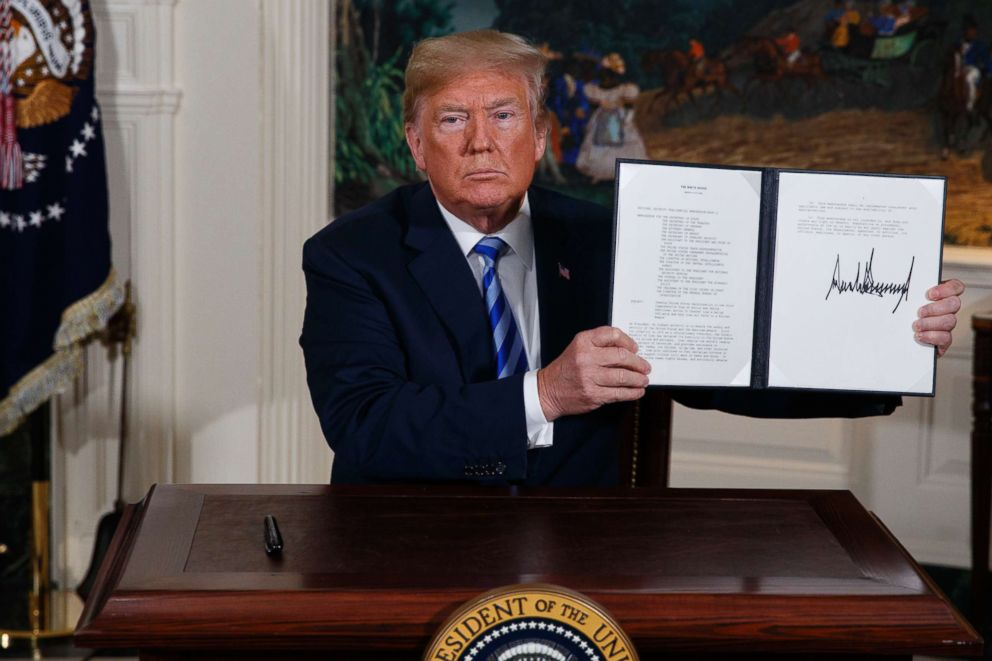 Trump's Abrogation of Iran Deal May Put his America First Policy to the Test, Trump's Abrogation of Iran Deal May Put his America First Policy to the Test