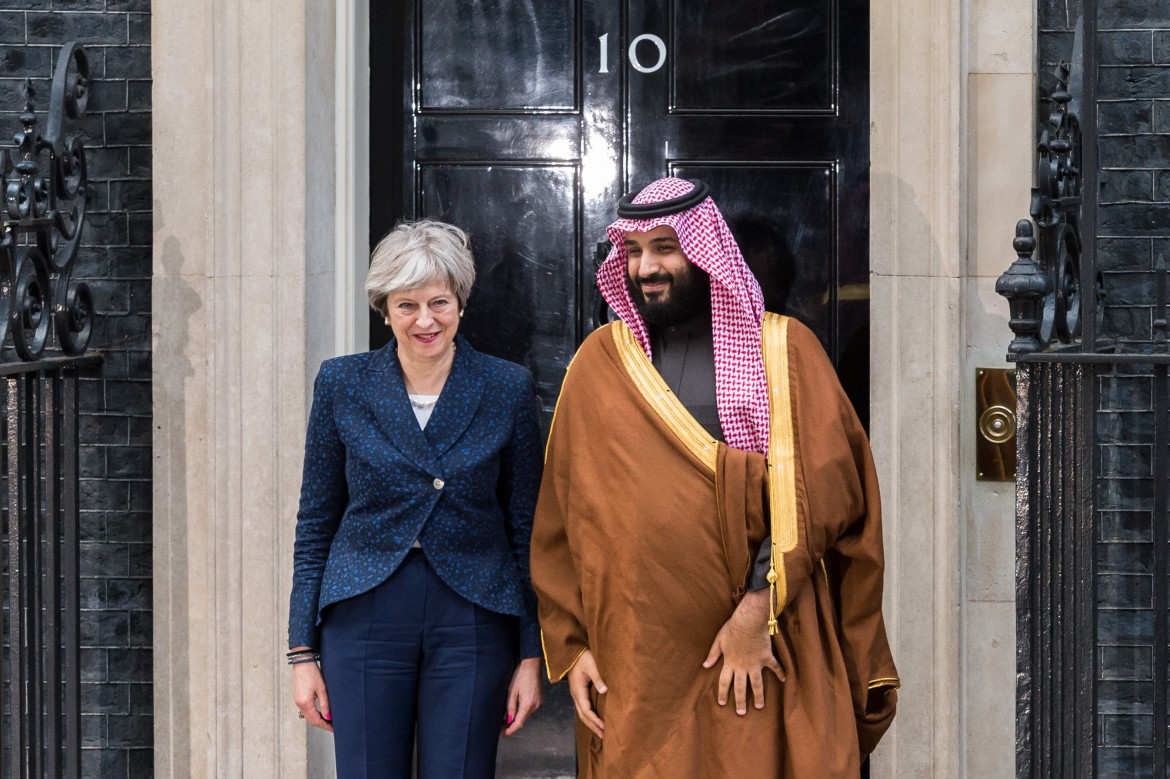 Mohammad Bin Salman Visits Theresa May At Downing Street