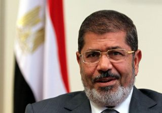 Former Egyptian president Mohamed Morsi, shown in 2012, died Monday during a trial session in an espionage case in Cairo. (Khaled Elfiqi/EPA-EFE/Shutterstock)