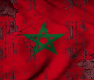 The flag of Morocco - Moroccan flag - Illustration by Hakim Khatib/MPC Journal