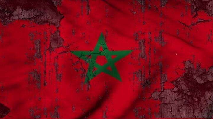 The flag of Morocco - Moroccan flag - Illustration by Hakim Khatib/MPC Journal