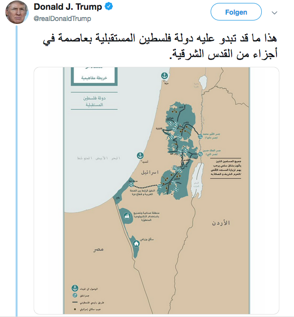 Israel – Palestine: Trump Releases Map for Peace Plan, Israel – Palestine: Trump Releases Map for Peace Plan