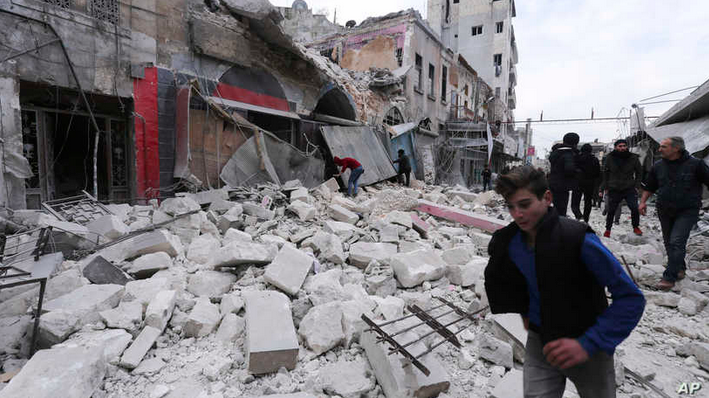 Syria's Rebel-Held Idlib Was Hit by 200 Air Strikes, Syria's Rebel-Held Idlib Was Hit by 200 Air Strikes, Middle East Politics & Culture Journal