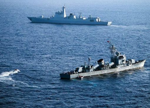 Iran's Islamic Revolutionary Guard Corps Navy approached six US military ships while they were conducting integration operations with Army helicopters in international waters.