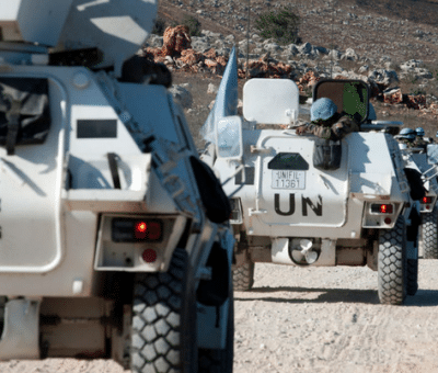 UNIFIL/Pasqual Gorriz UNIFIL peacekeepers in southern Lebanon.