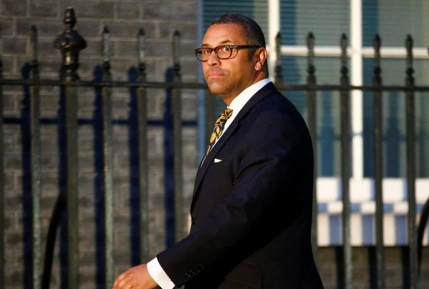 British Conservative MP James Cleverly arrives at Downing Street, in London, Britain, July 24, 2019. (Reuters)