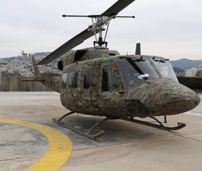 Lebanese Army Rehabilitates Two Military Helicopters